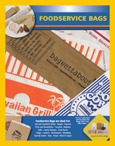 Printed paper bread bags food service