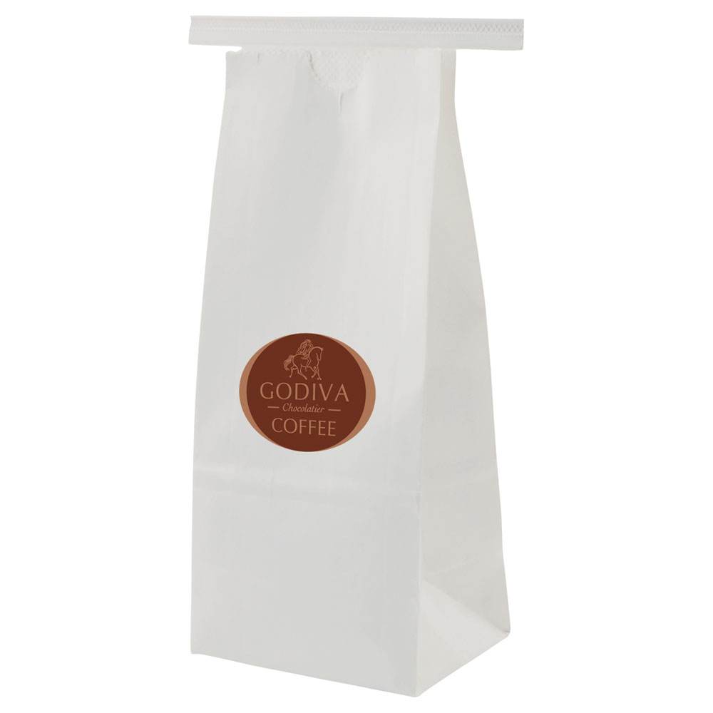 Paper coffee tea snack bags with and without windows plain or logo printed