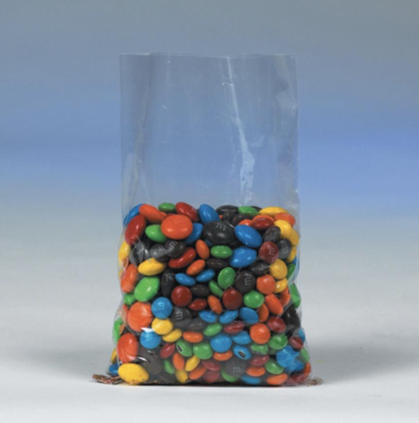 Flat clear polypropylene plastic bags