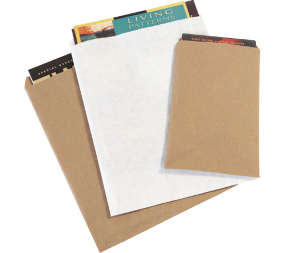 Gusseted merchandise paper bags