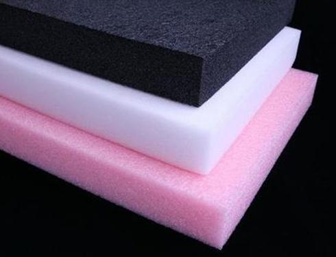 foam inserts - Black conductive white closed cell foam and pink anti-static polyethylene foams for electronics cleanrooms military spec applications