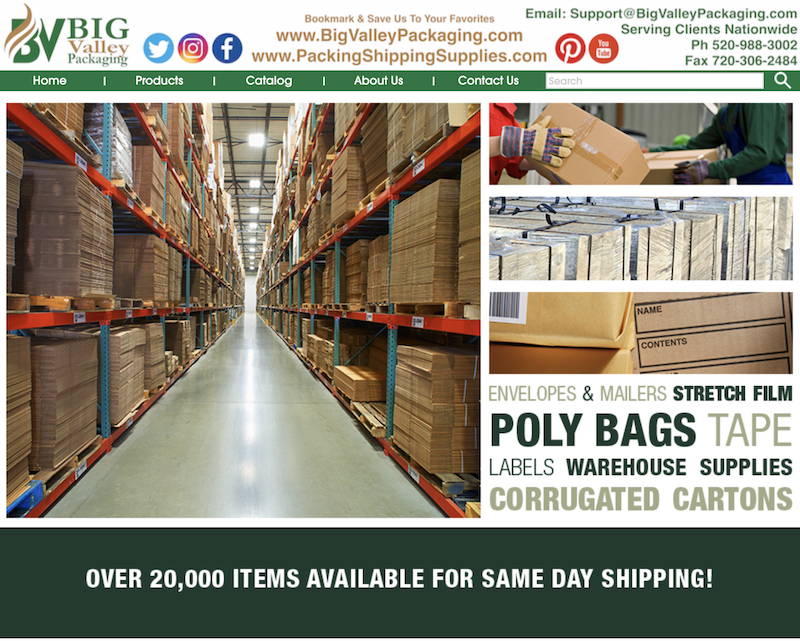 SHOP Now for packaging mailing shipping packing materials.  Stock warehouse serving the continental U.S. - https://www.PackingShippingSupplies.com