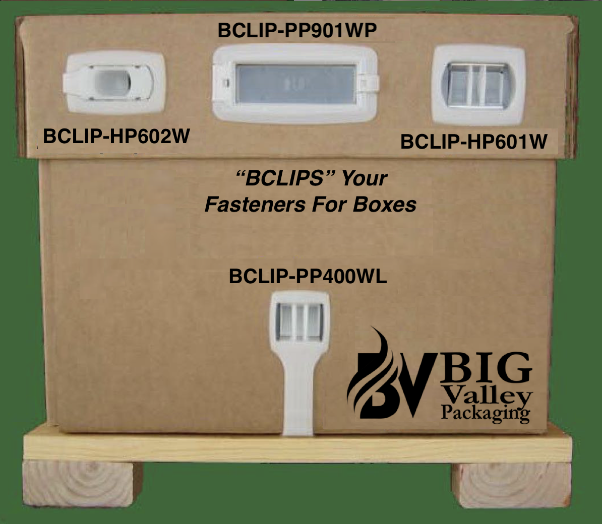 Bclips Plastic clip fasteners for corrugated boxes - Plastic connecting fasteners hinged clips for boxes