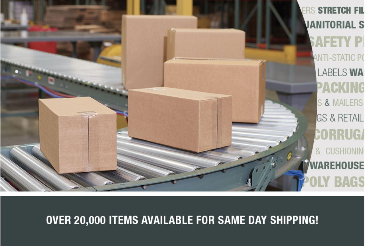 Shipping Boxes & STock Supplies Shop - Stock packaging mailing supply warehouse
