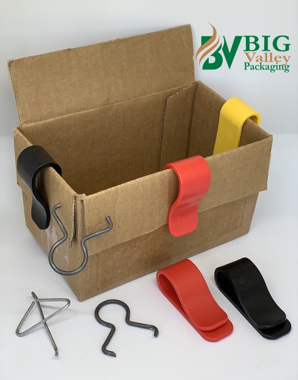 plastic flaps open carton clip