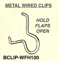 metal wire kite box flaps open holder