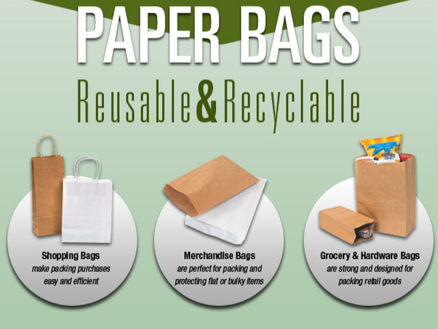 Stock size kraft paper bags and sacks