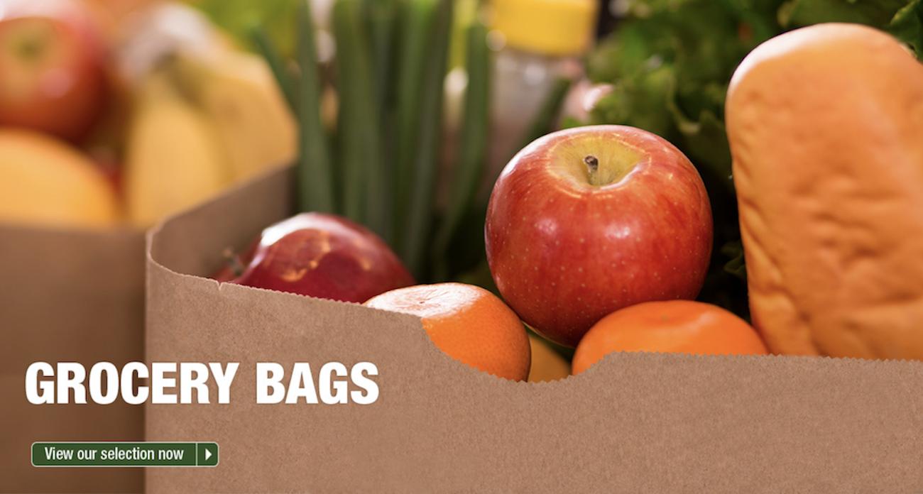 Order Paper bags grocery sacks natural brown kraft