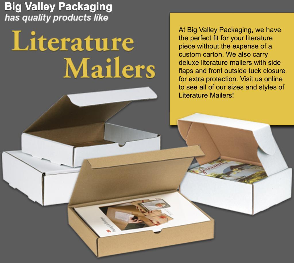Corrugated cardboard mailing boxes