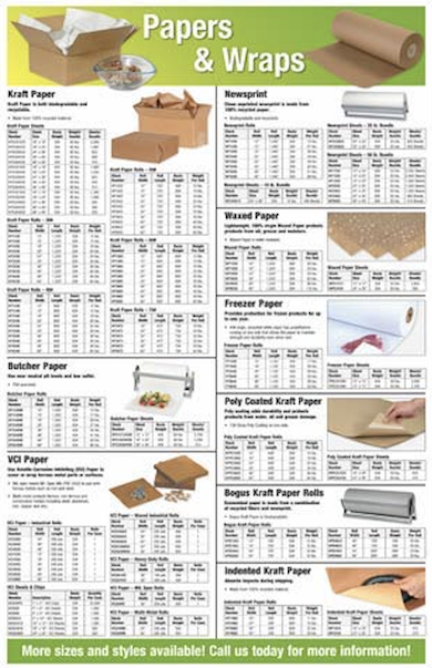 Paper rolls sheets wrapping - download catalog brochure