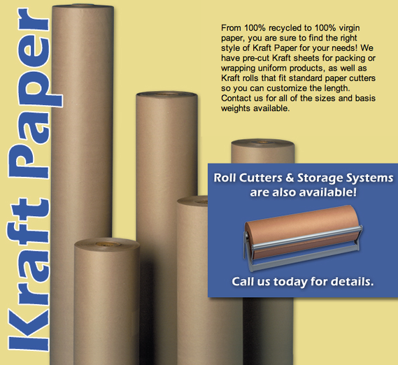 Kraft Paper Rolls Sheets - Excellent for wrapping boxes, parts or for layering.Used in wrapping, interleaving or great as a void fill.Made from 100% recycled material.Naturally biodegradable and recyclable.Non-abrasive.