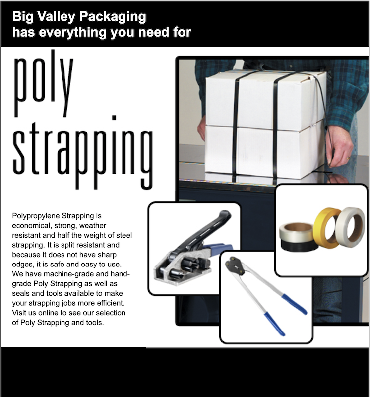 Plastic Poly Strapping - Bundle strap and tools