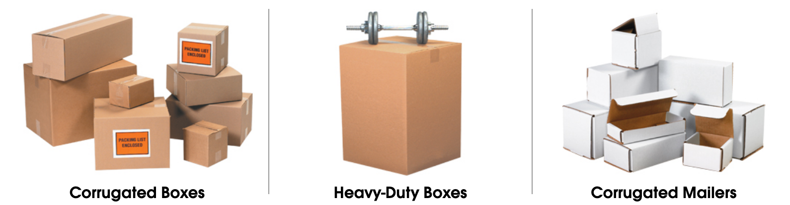 Corrugated cardboard shipping boxes nationwide