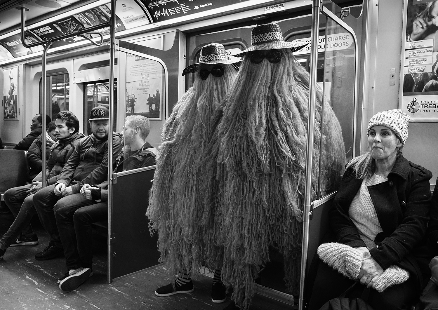 Just another night on the subway
