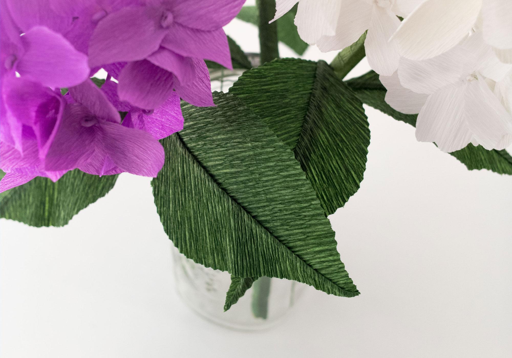 Crepe Paper Hydrangea