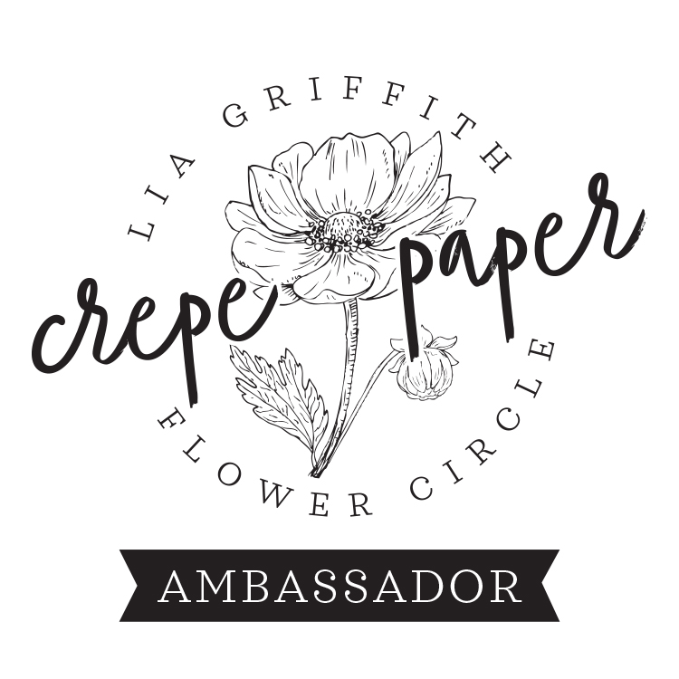 Lia Griffith Crepe Paper Flower Circle Ambassador   I'm proud to be a part of this small, hand-selected group of crepe paper artists who Lia Griffith has designated to be a point team in developing new products and crepe colors.