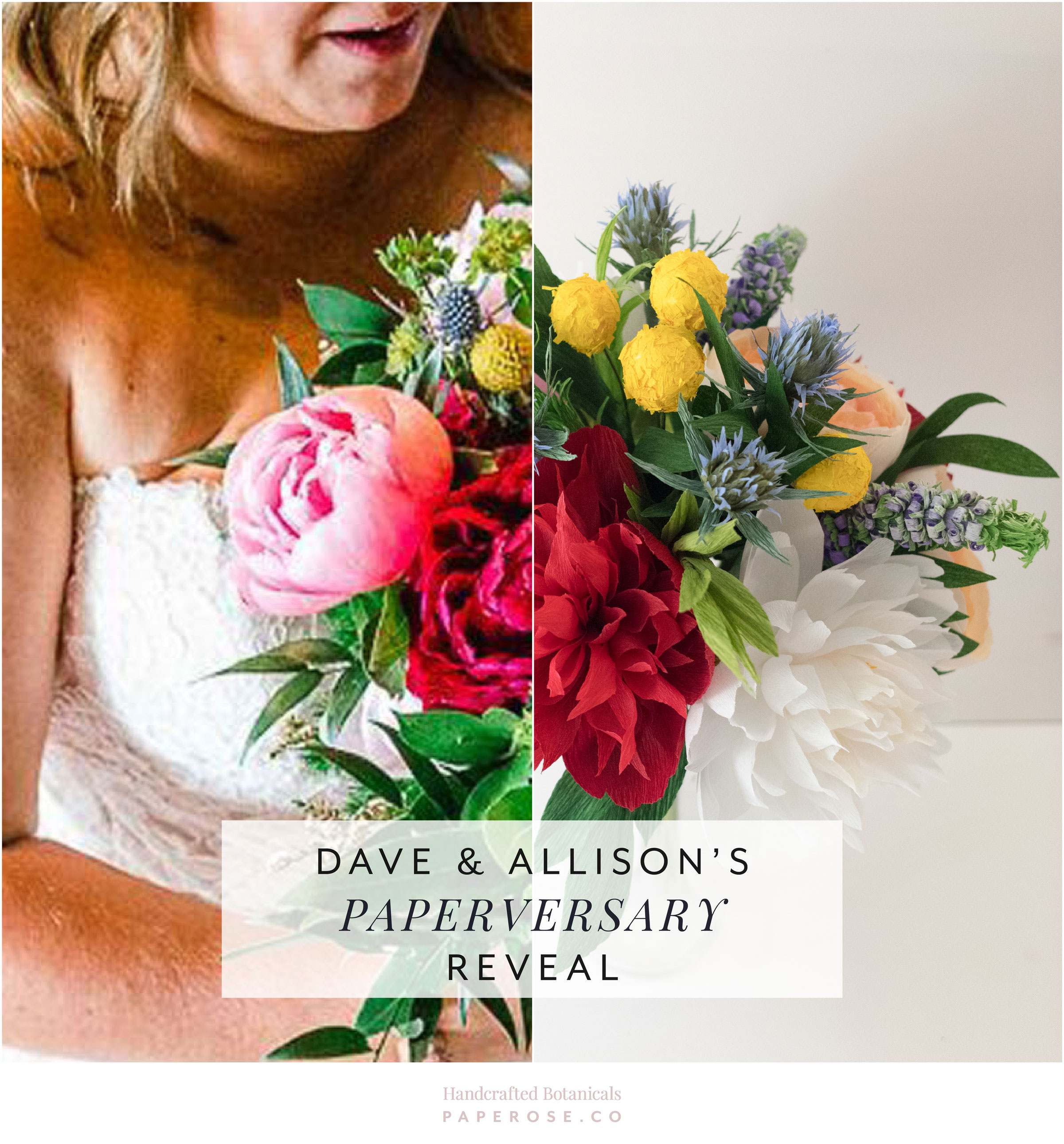 Dave and Allison's Paperversary Reveal