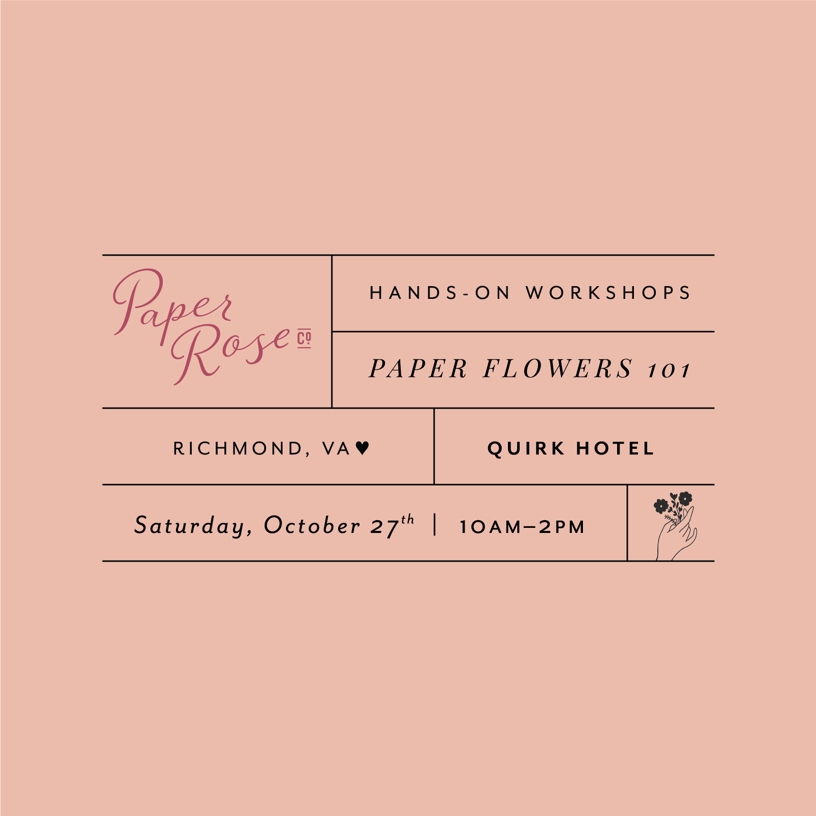 And then finally I would be remiss if not to suggest paper flowers, of course! If you're interested in learning to make paper flowers and want to sit down with me for a few hours in a couple of weeks, you can also sign up for my  Workshop in Richmond . I designed this class to be the perfect jumpstart session so that you can start successfully making flowers on your own (and start seeing the benefits I enjoyed right away too!).