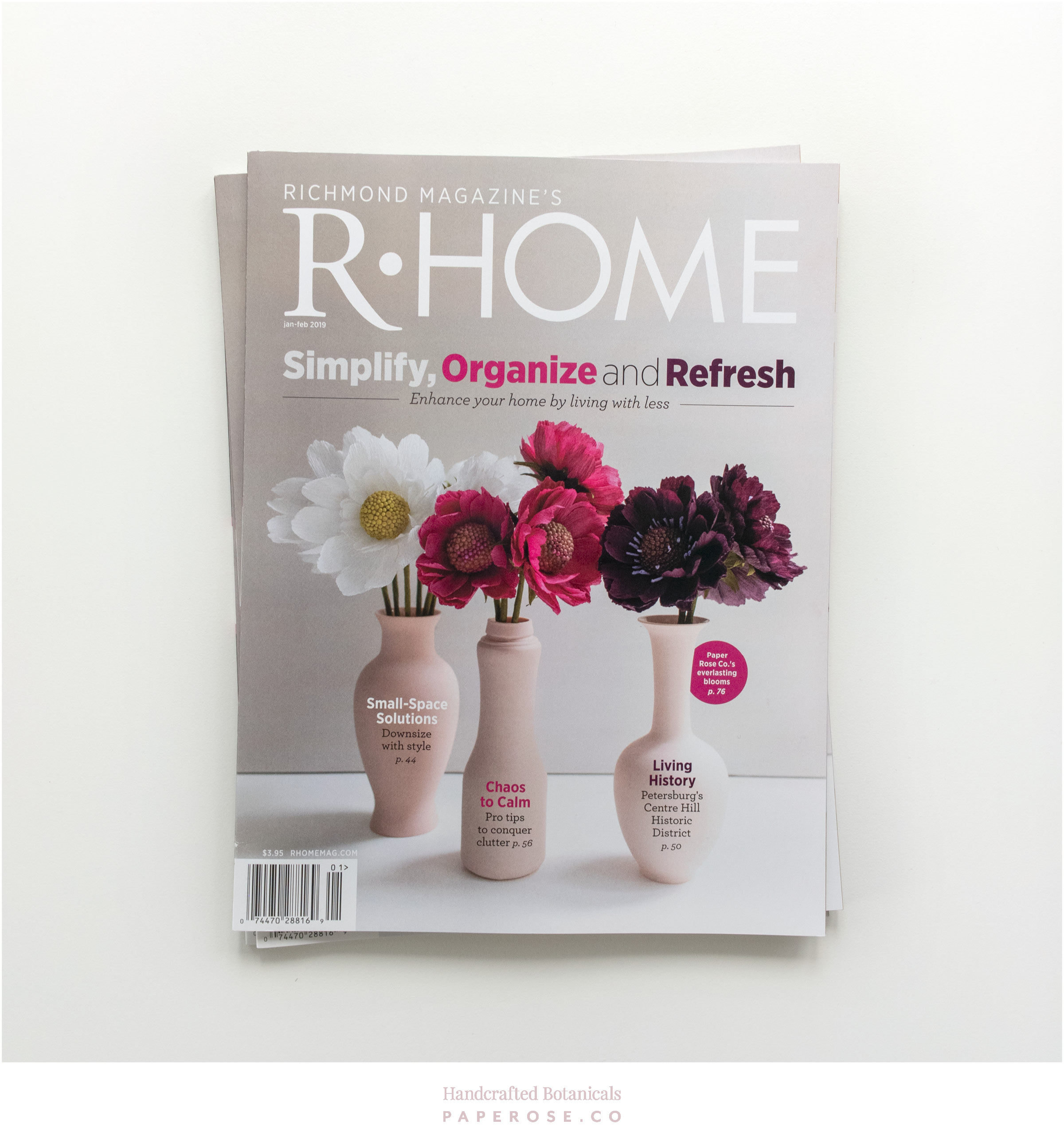 PaperRoseCo R•Home Magazine Cover
