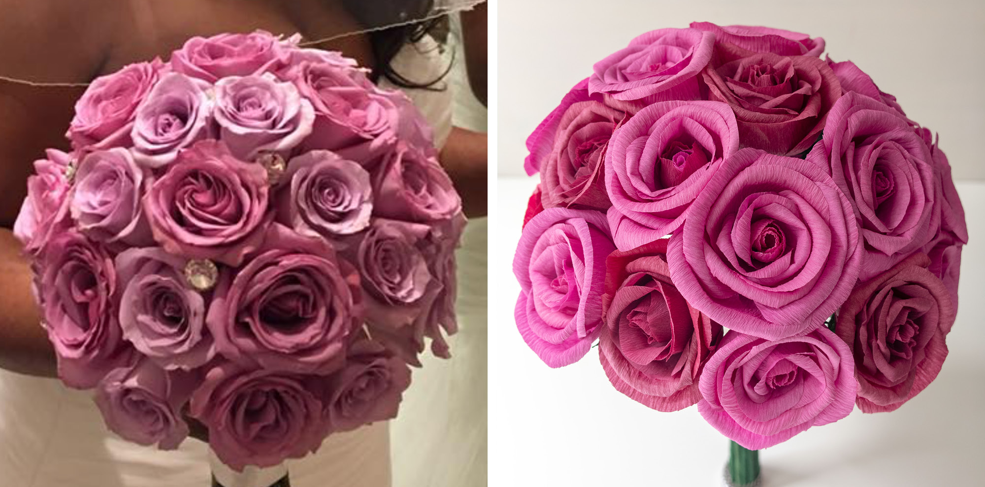 PaperRoseCo Wedding Bouquet Replica Comparison