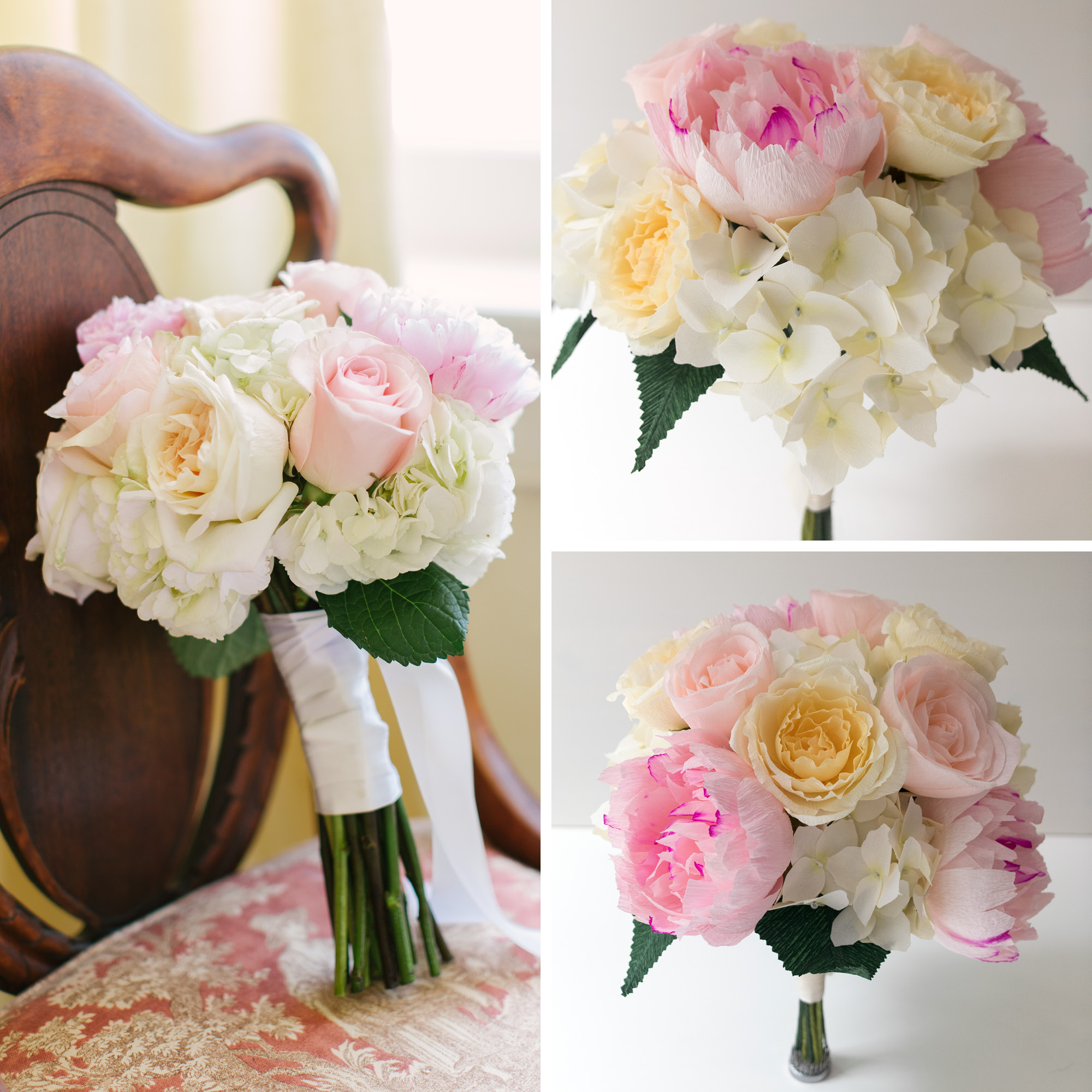 Paper Rose Co First Anniversary Wedding Bouquet Recreation Compare