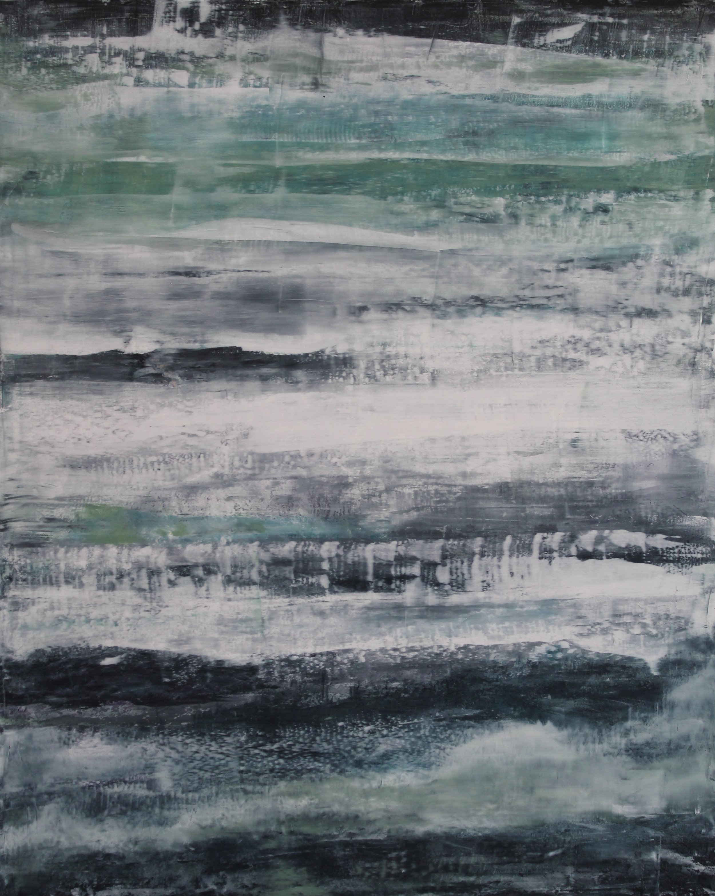"Seafoam 16x20"" oil and wax on wood panel  $425"