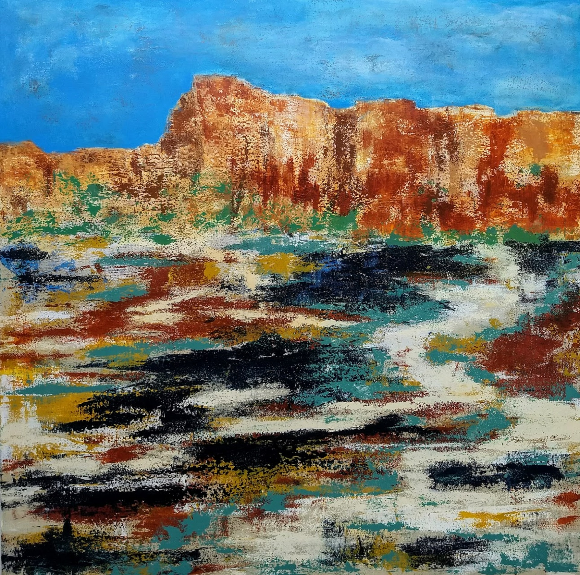 "El Morro  48"" x 48"" acrylic on deep canvas  $2,300 Contact to Purchase"