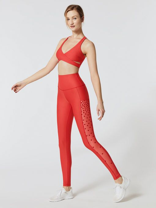 HEART LEGGINGS + KNOX TOP - Another Carbon 38 exclusive, we love the mesh detail on these leggings. Paired perfectly with the Knox Top in Red Flock