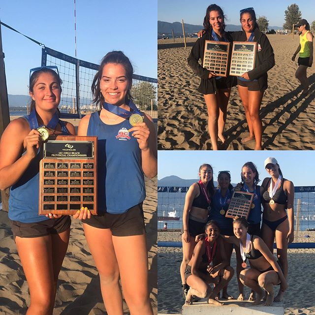 These girls! Congrats to cali and alex for repeating as BC beach volleyball champs! U16 in 2019! #volleyball #vball #beachvolleyball🏐 #sideout #volleyballbc #beachvball #shemade21servesinarowtowinagame