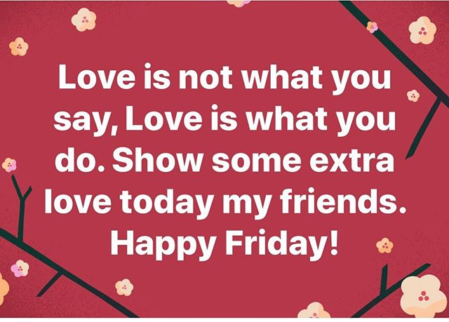#loveismorethanwords #showlove #theworldneedsmorelove #mnlove #happyfriday