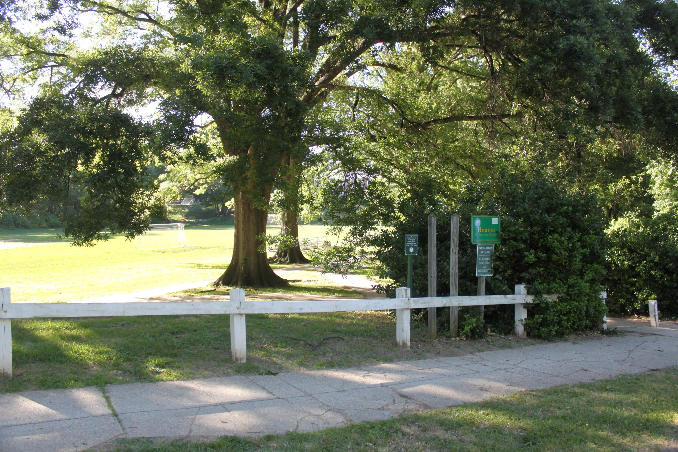 Idaho Avenue Entrance To The Park