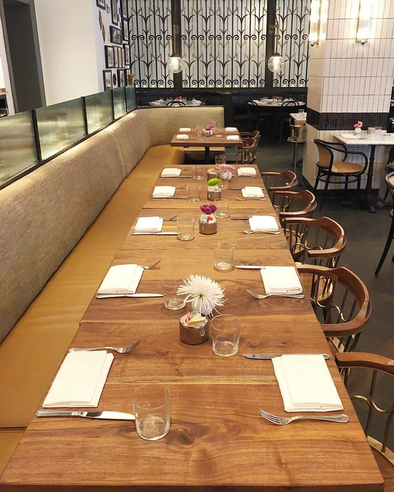 Restaurant Tables in The Katharine Brasserie in Winston-Salem, NC