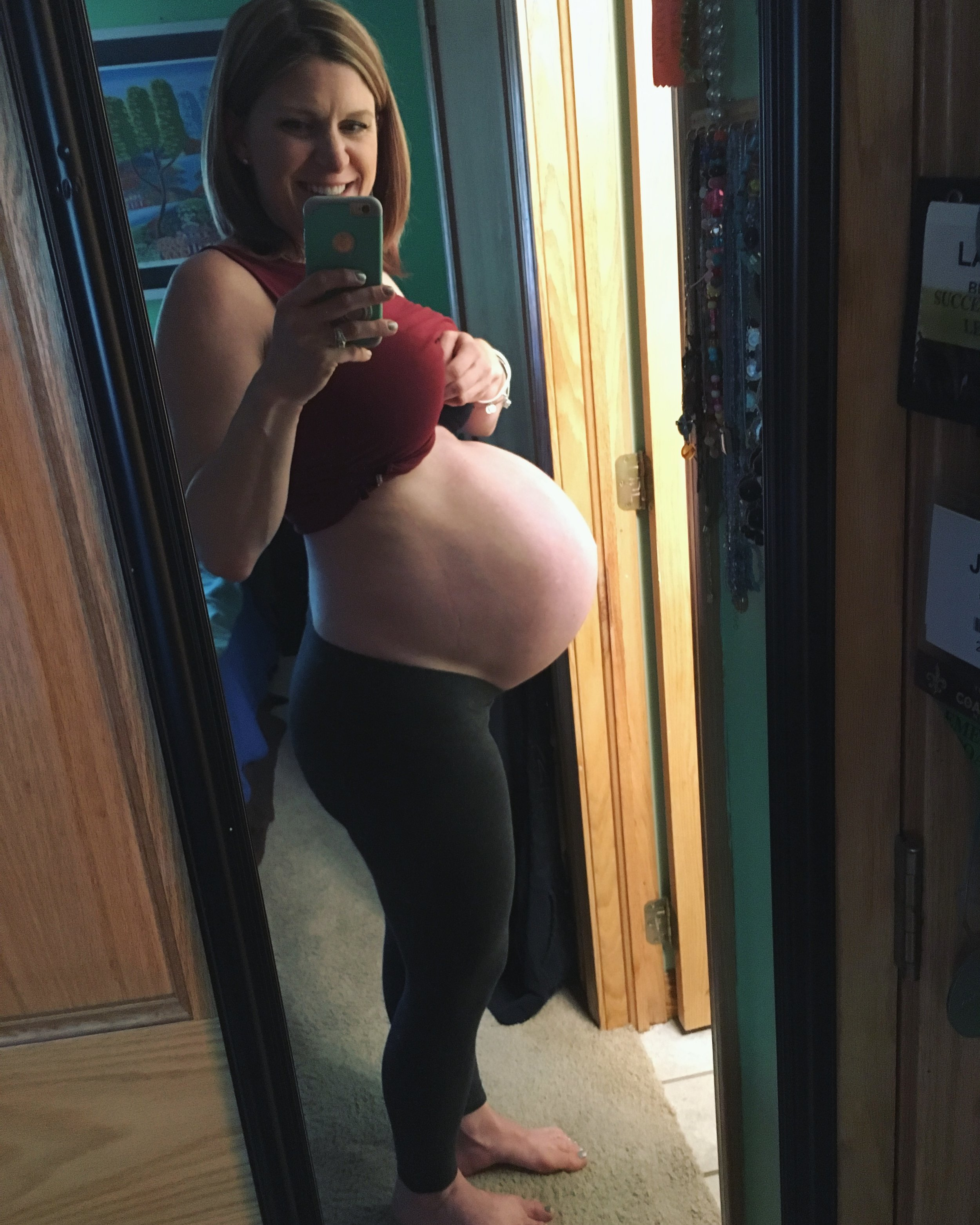 37 weeks pregnant- the night before going into labor