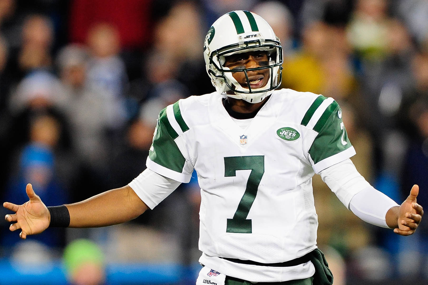 With any luck, Geno Smith will be making this face a lot on Sunday.