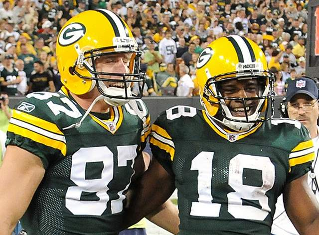 Jordy Nelson and Randall Cobb are all smiles as they get set to face the Philly defense this week.