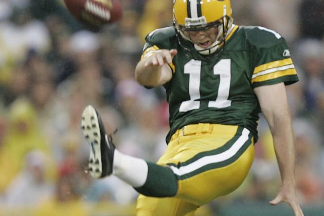 Punter B.J. Sander was selected by the Packers in the third round of the 2004 NFL Draft.