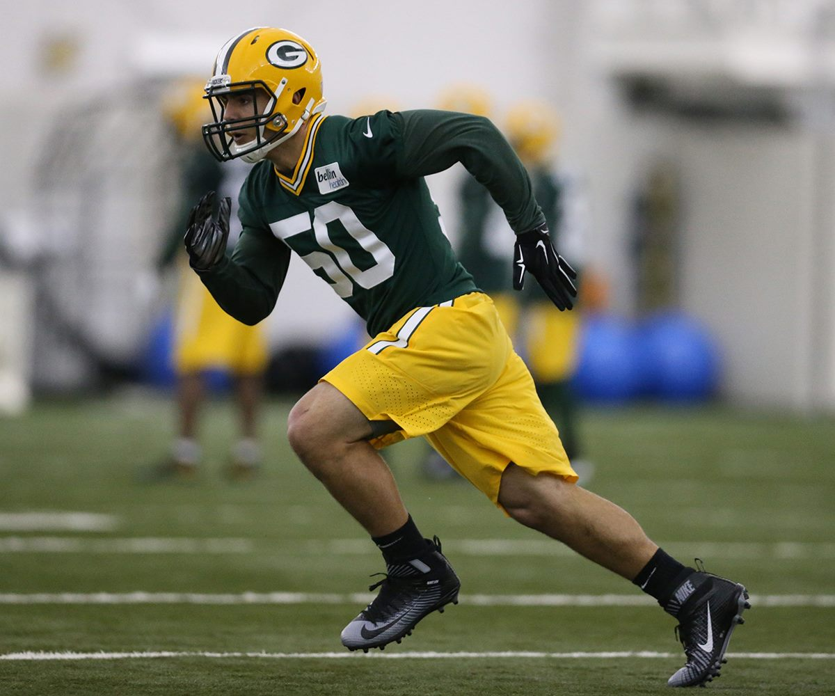Linebacker Blake Martinez shares a jersey number with A.J. Hawk, but possesses an entirely different skill set.