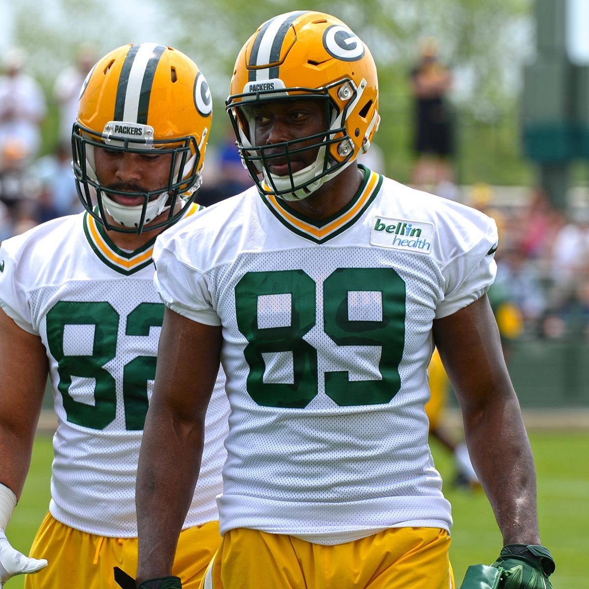 Jared Cook (#89) joins the Packers' tight end corps after seven NFL seasons with the Titans and Rams.