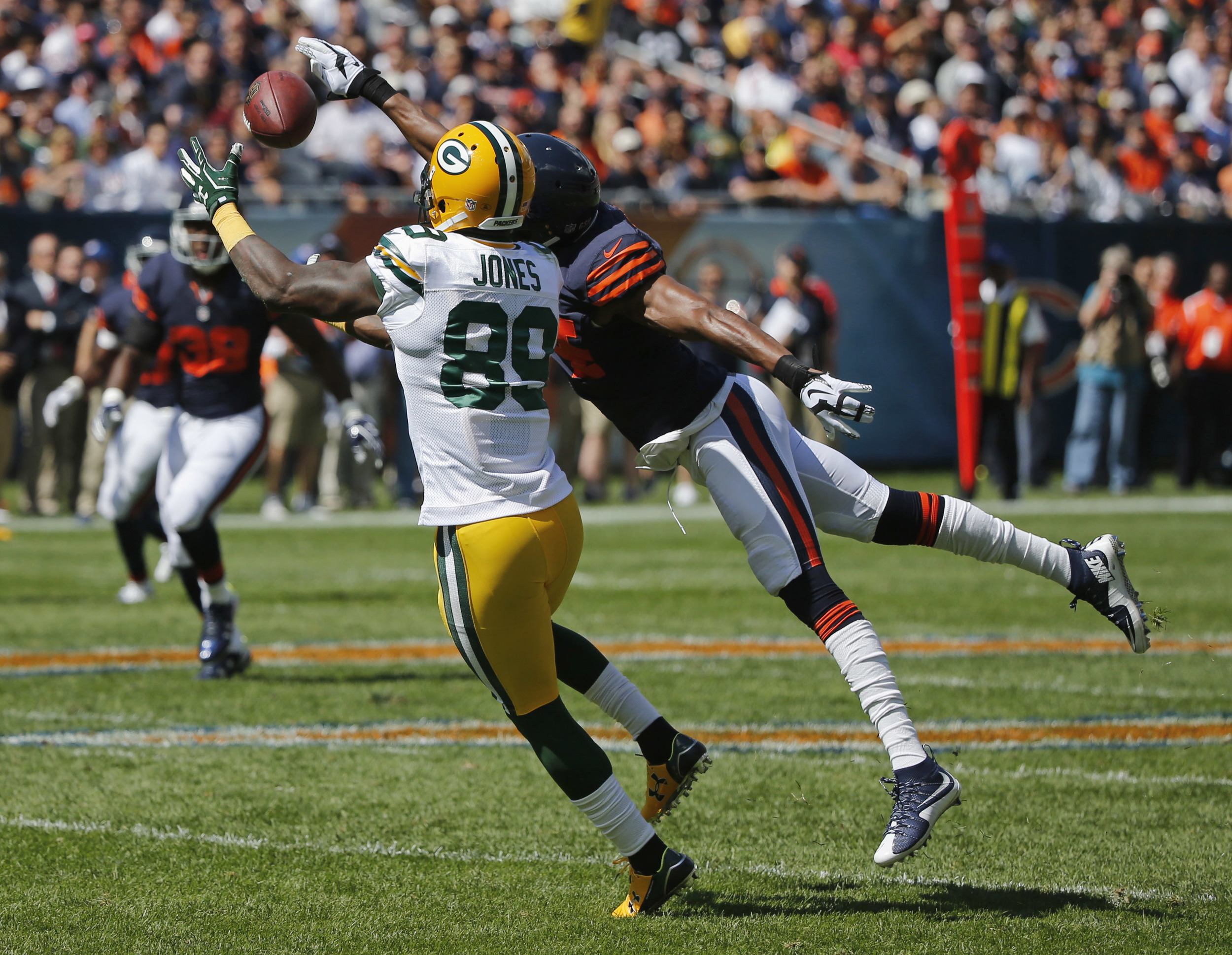 James Jones and the 2015 Packers offense finished second in the NFL with 39 receptions over 25 yards.