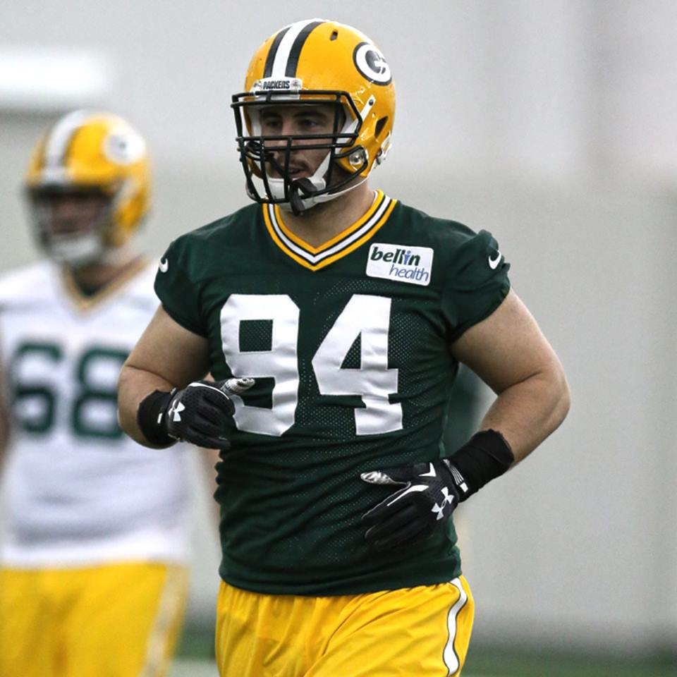 Rookie Dean Lowry is projected to join the Packers' defensive line.