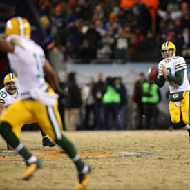 Aaron Rodgers returned from a broken collarbone and threw this game-winning pass to Randall Cobb.
