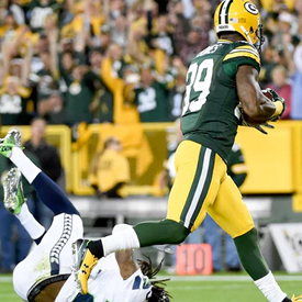 James Jones' touchdown grab over Seahawks cornerback Richard Sherman was a satisfying moment for Packers fans.