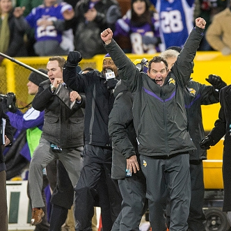 Last year, Mike Zimmer and the Vikings celebrated their NFC North crown at Lambeau Field. Will the Packers return the favor by spoiling Minnesota's first game in U.S. Bank Stadium?