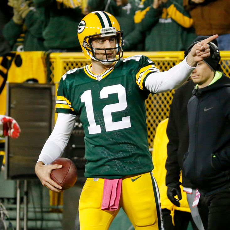 Aaron Rodgers led the Packers to a win on Sunday night over the Giants.