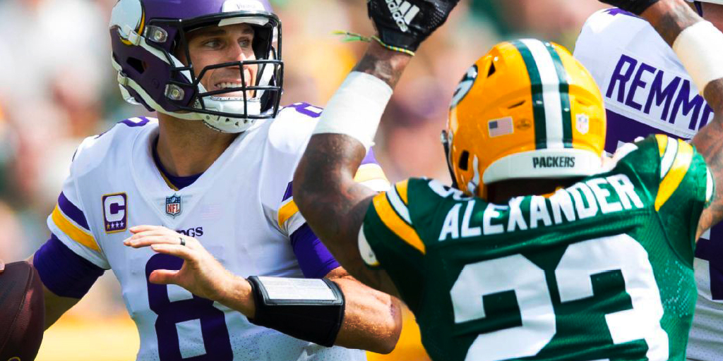 Vikings quarterback Kirk Cousins led his team to a 29-29 tie in his first start at Lambeau Field.