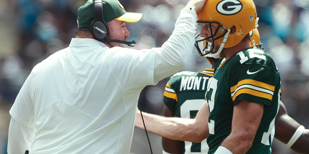 Packers head coach  Mike McCarthy  and quarterback  Aaron Rodgers  rely on gaining positive yards on the opening play of a drive to give the offense momentum.