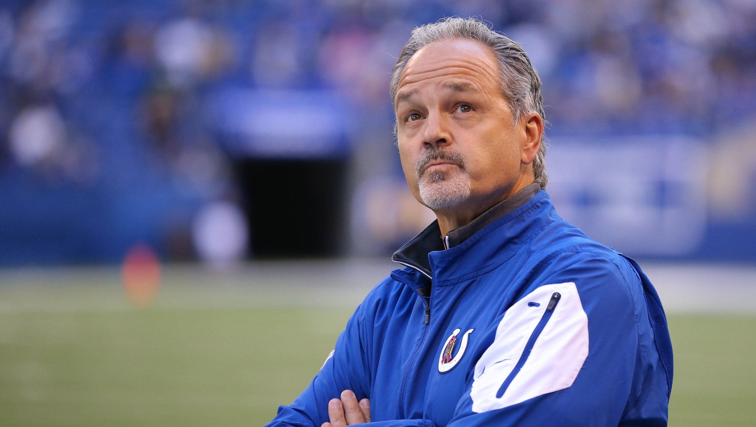 Chuck Pagano  coached the Indianapolis Colts to three playoff appearances, including one AFC Championship Game in 2014.