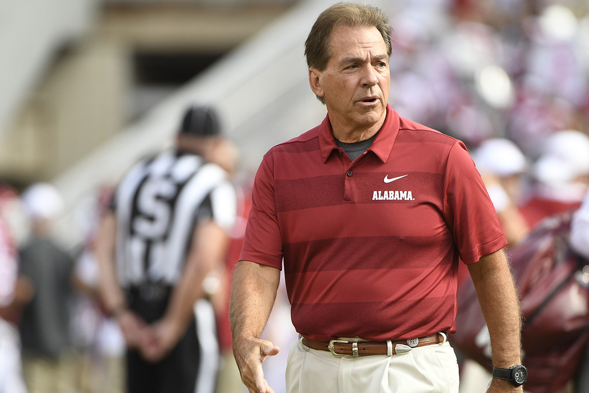 Alabama's  Nick Saban  will likely remain in college for the rest of his coaching career.