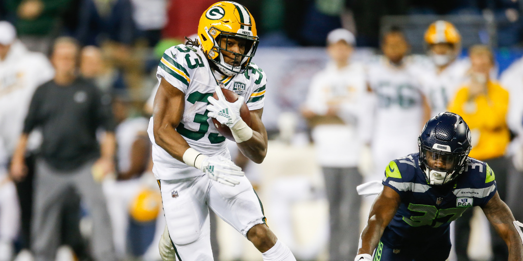 Aaron Jones was very good against the Seahawks, but a lackluster team effort offset his contributions.