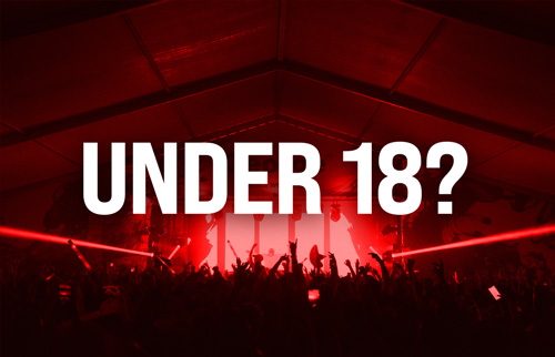 If you are under 18, you must now register on our under 18 database.   If you don't do this, you will be refused entry into the event. Click the image now.